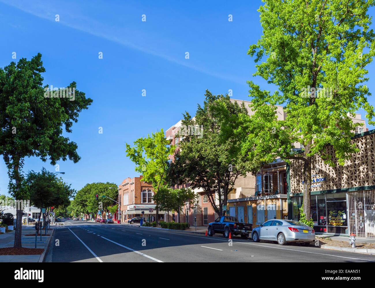 21st Street in Midtown Sacramento, California, USA Stock Photo