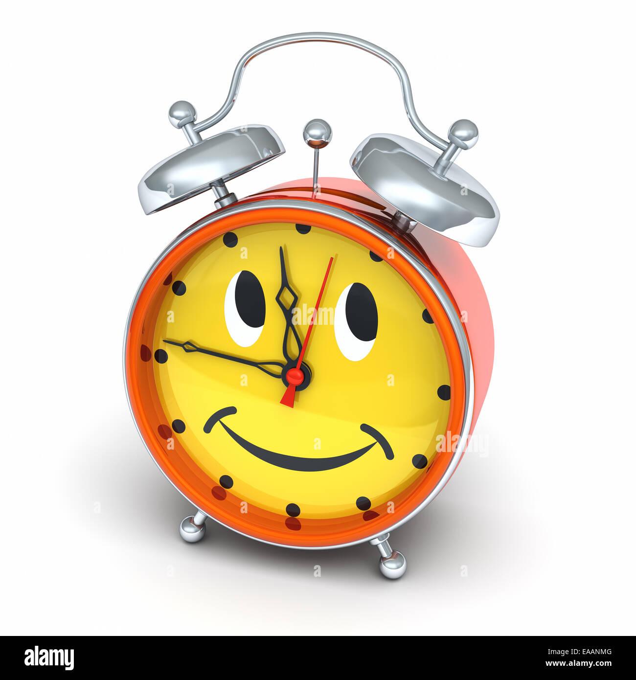 Wall Clock Smiley Smile with springs Diameter 25 cm Vintage