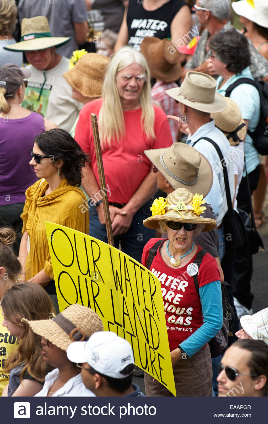 A broad range of people came together in support of the 'gasfield free northern rivers' declaration - opposing - Stock Image