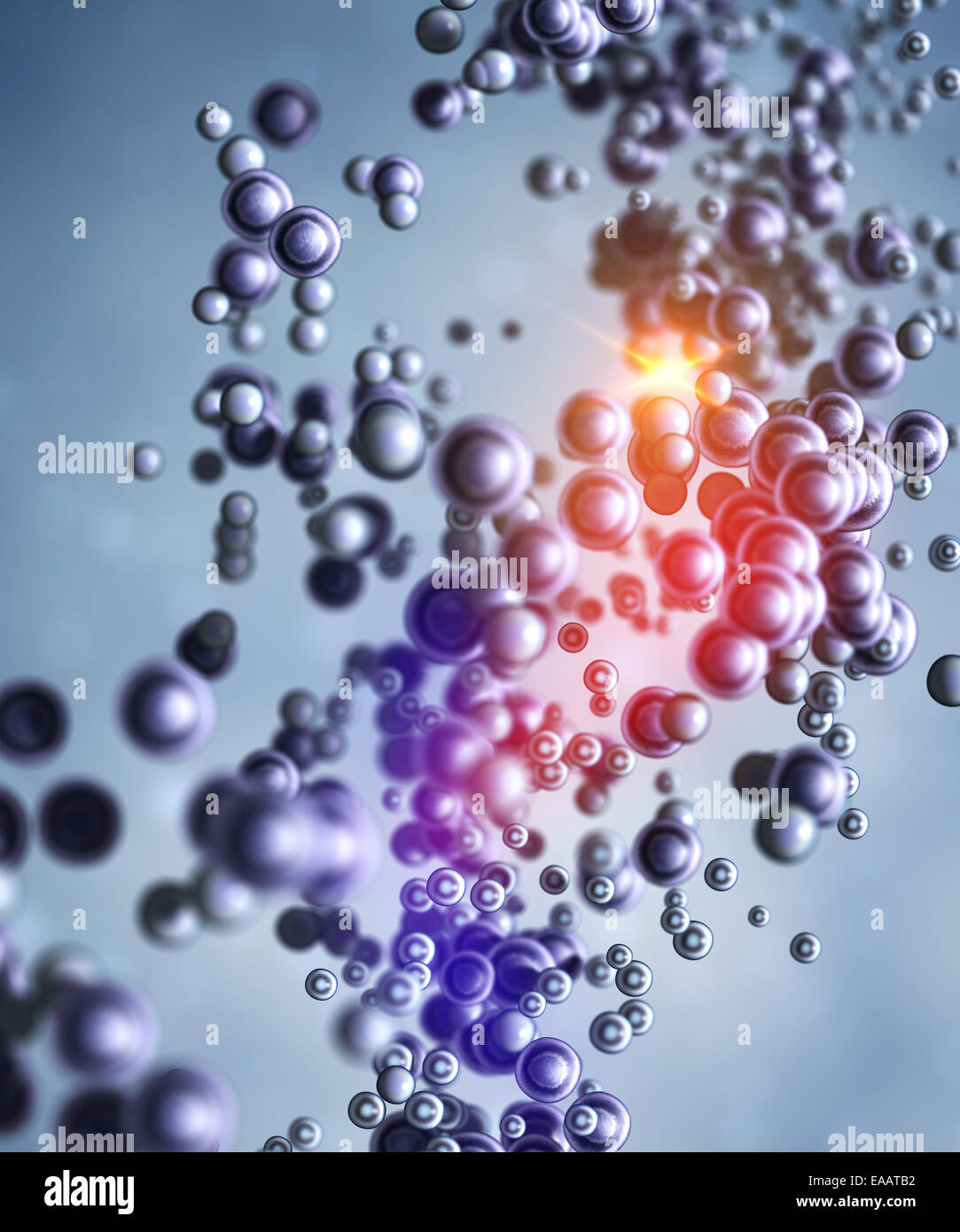 Abstract molecular structure - Stock Image