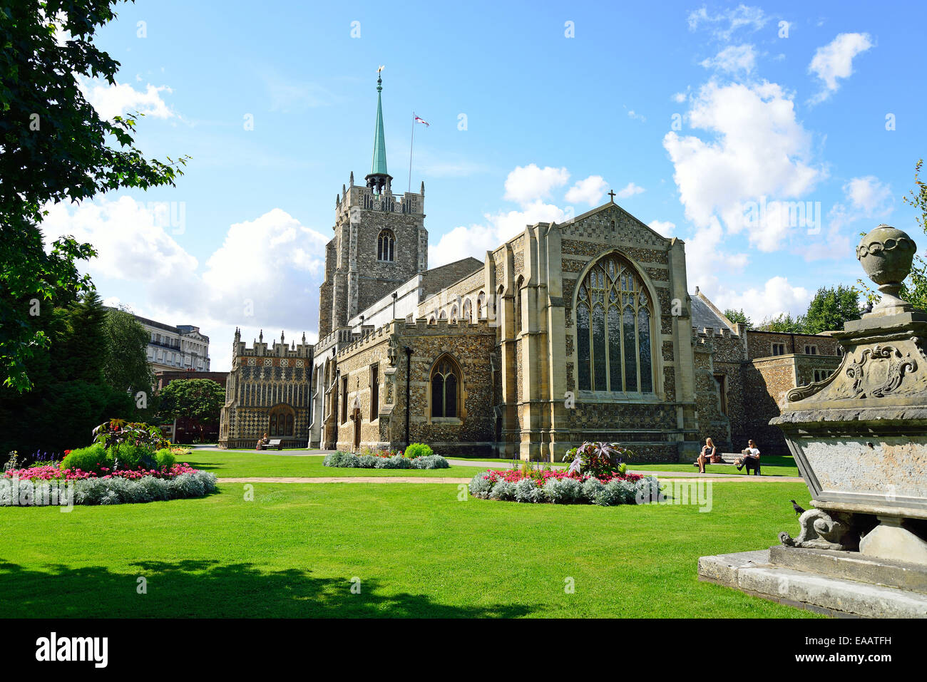 Chelmsford Cathedral (Church of St Mary the Virgin, St Peter and St Cedd), Chelmsford, Essex, England, United Kingdom - Stock Image