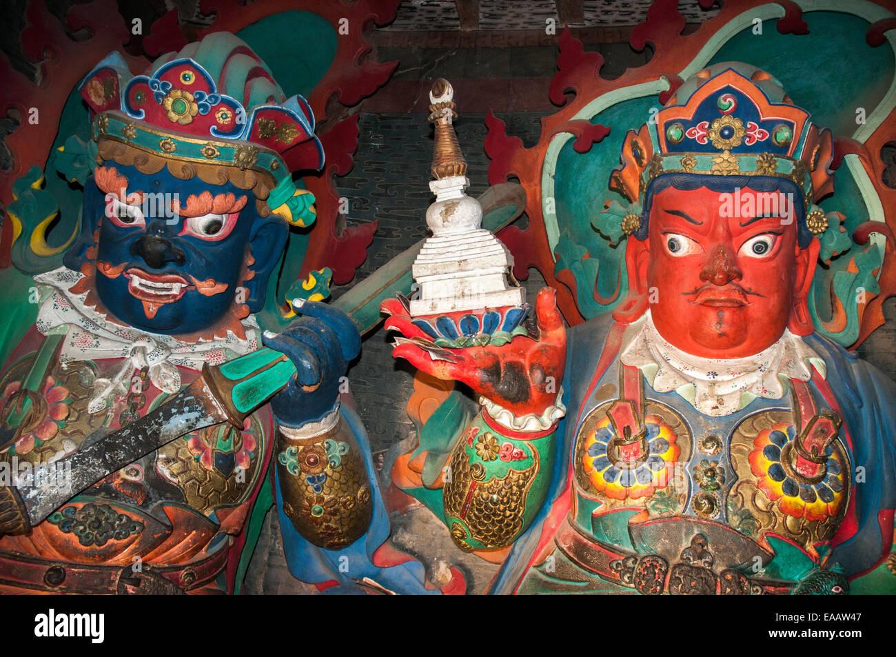 Palkhor Chode Monastery incorporates the 15th C. Kumbum Chorten at Gyantse, Tibet Stock Photo