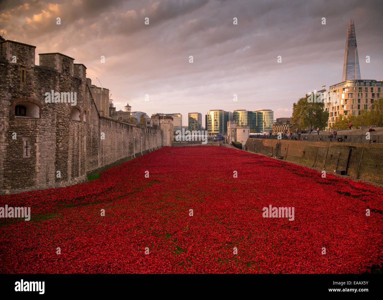 Blood Swept Lands and Seas of Red Stock Photo
