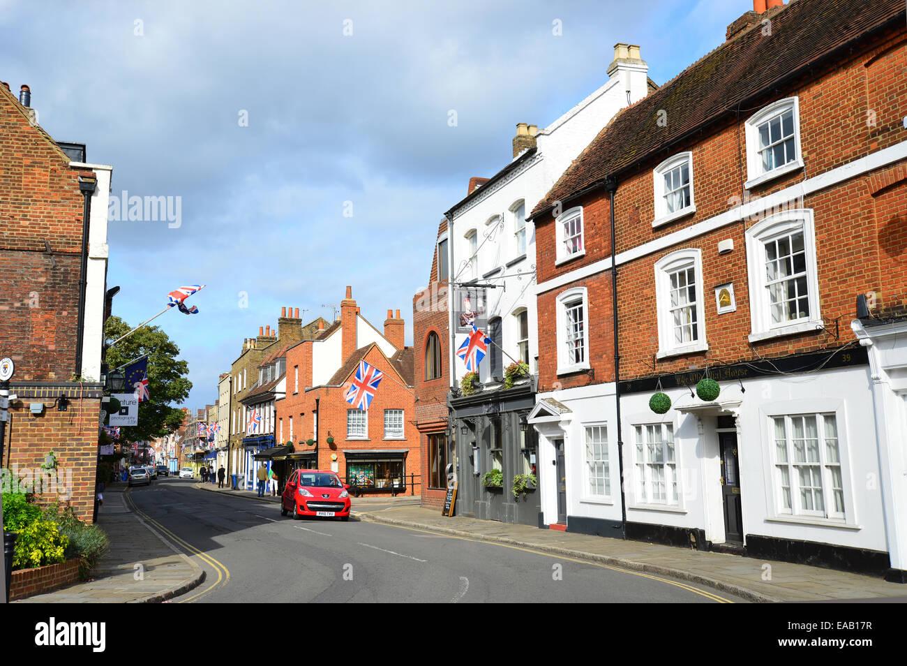 Eton High Street, Eton, Berkshire, England, United Kingdom - Stock Image
