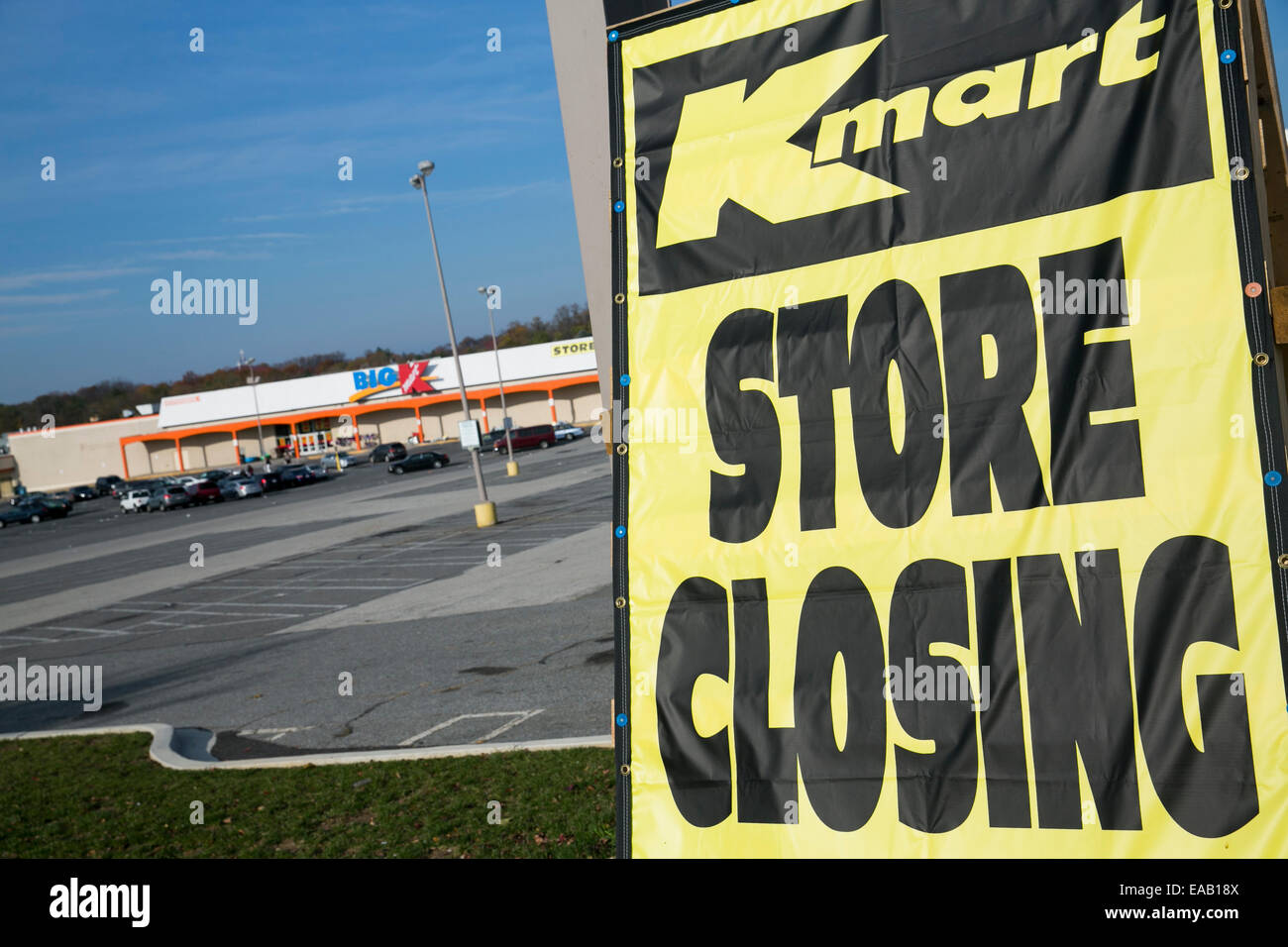A Kmart retail store with a 'Store Closing Sale' banner in Baltimore, Maryland on November 9, 2014. Sears - Stock Image