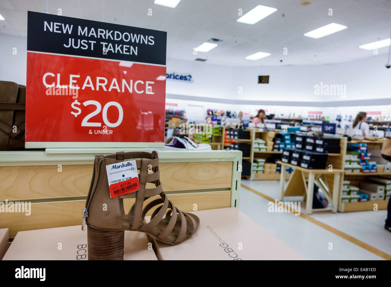 Miami Florida Marshalls discount department store shopping inside sale  display clearance sign women s shoes 7eed8fdd6