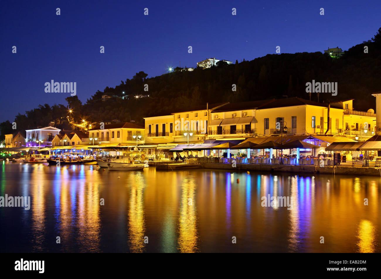 The port of Katakolo (popular cruise ship anchorage) close to Ancient Olympia, Ileia, Peloponnese, Greece. - Stock Image