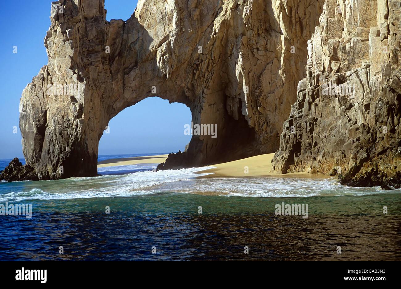 El Arco ( The Arch ) at Land's End is Cabo San Lucas' most recognizable symbol, Baja Sur, Mexico - Stock Image