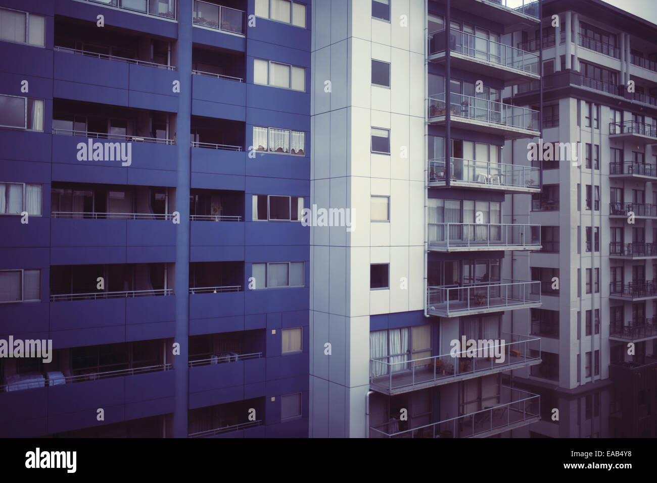 Tower blocks, flats, apartments, in Auckland, New Zealand - Stock Image
