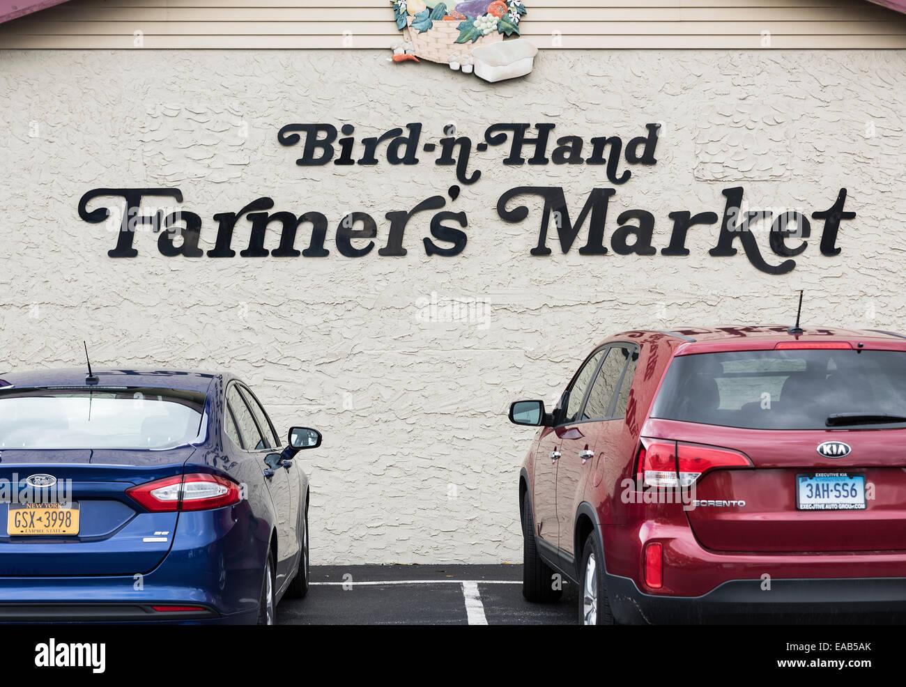 Bird in Hand farmer's market, Pennsylvania, USA - Stock Image