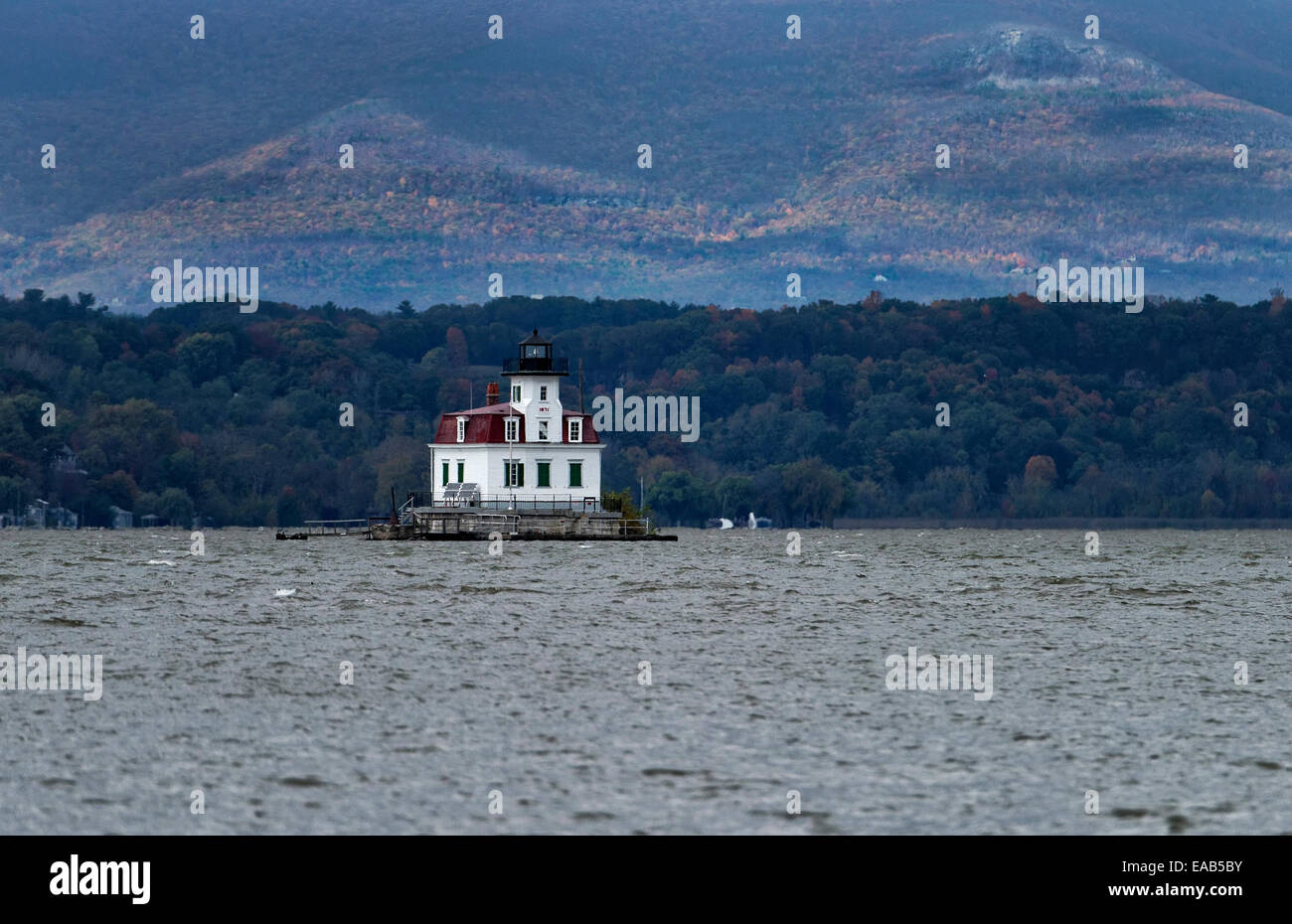 Esopus Meadows Lighthouse, Esopus, New York, USA - Stock Image