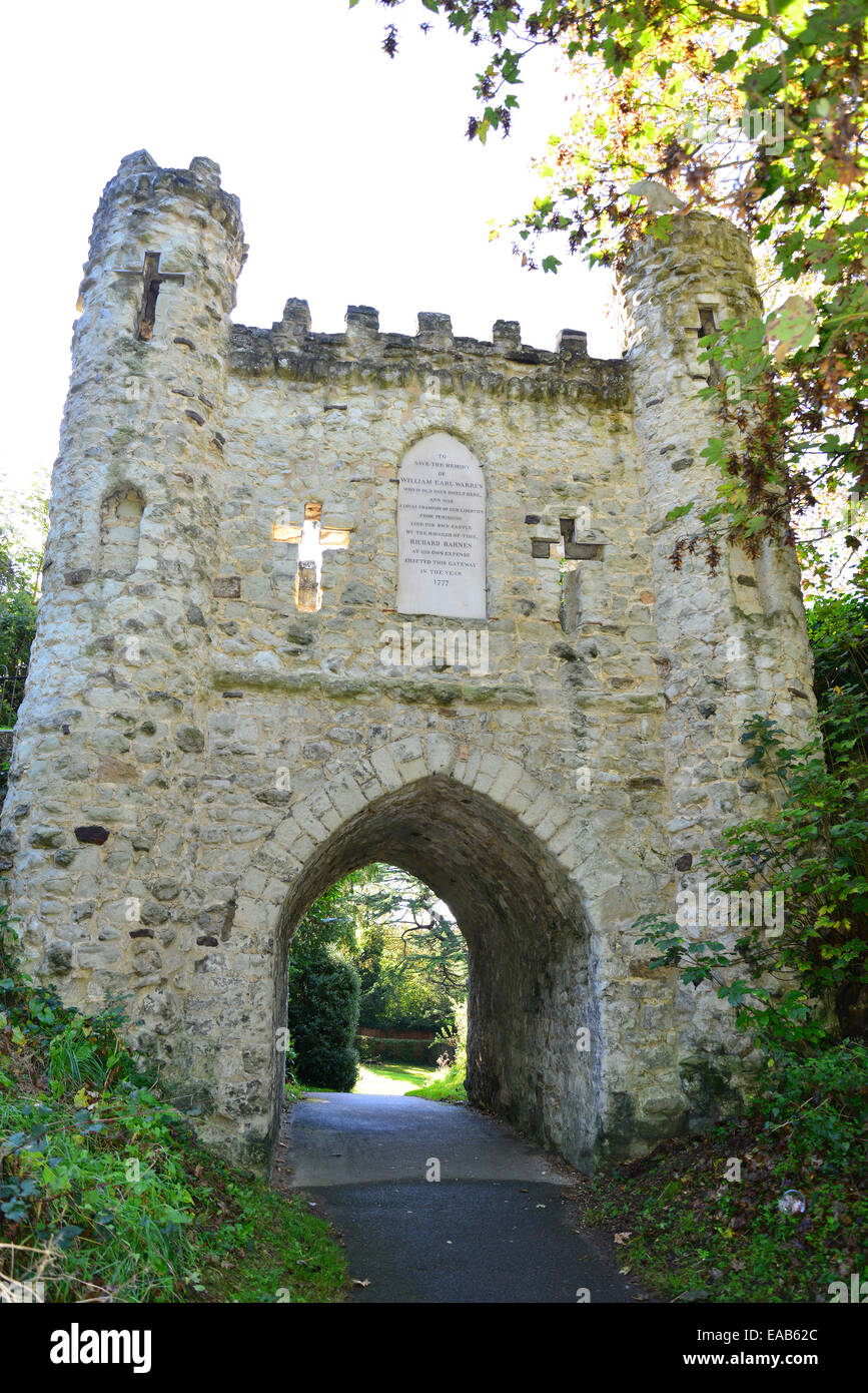 Medieval gateway, Reigate Castle, Reigate, Surrey, England, United Kingdom - Stock Image