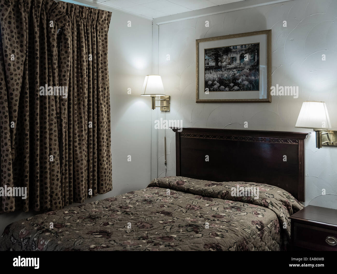 Cheap hotel room. - Stock Image