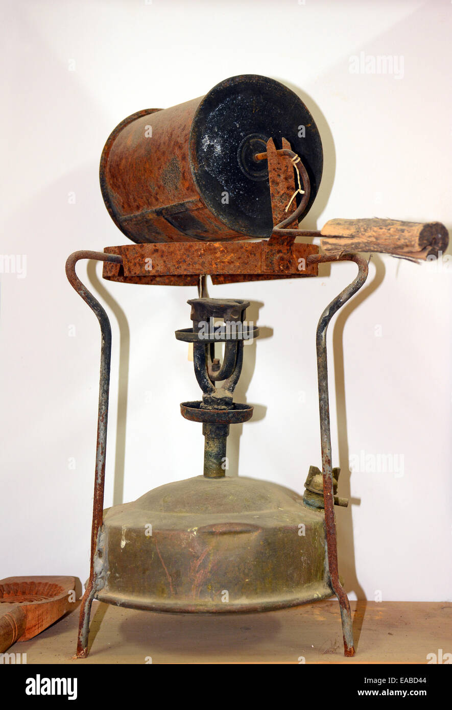 Old heating apparatus. - Stock Image