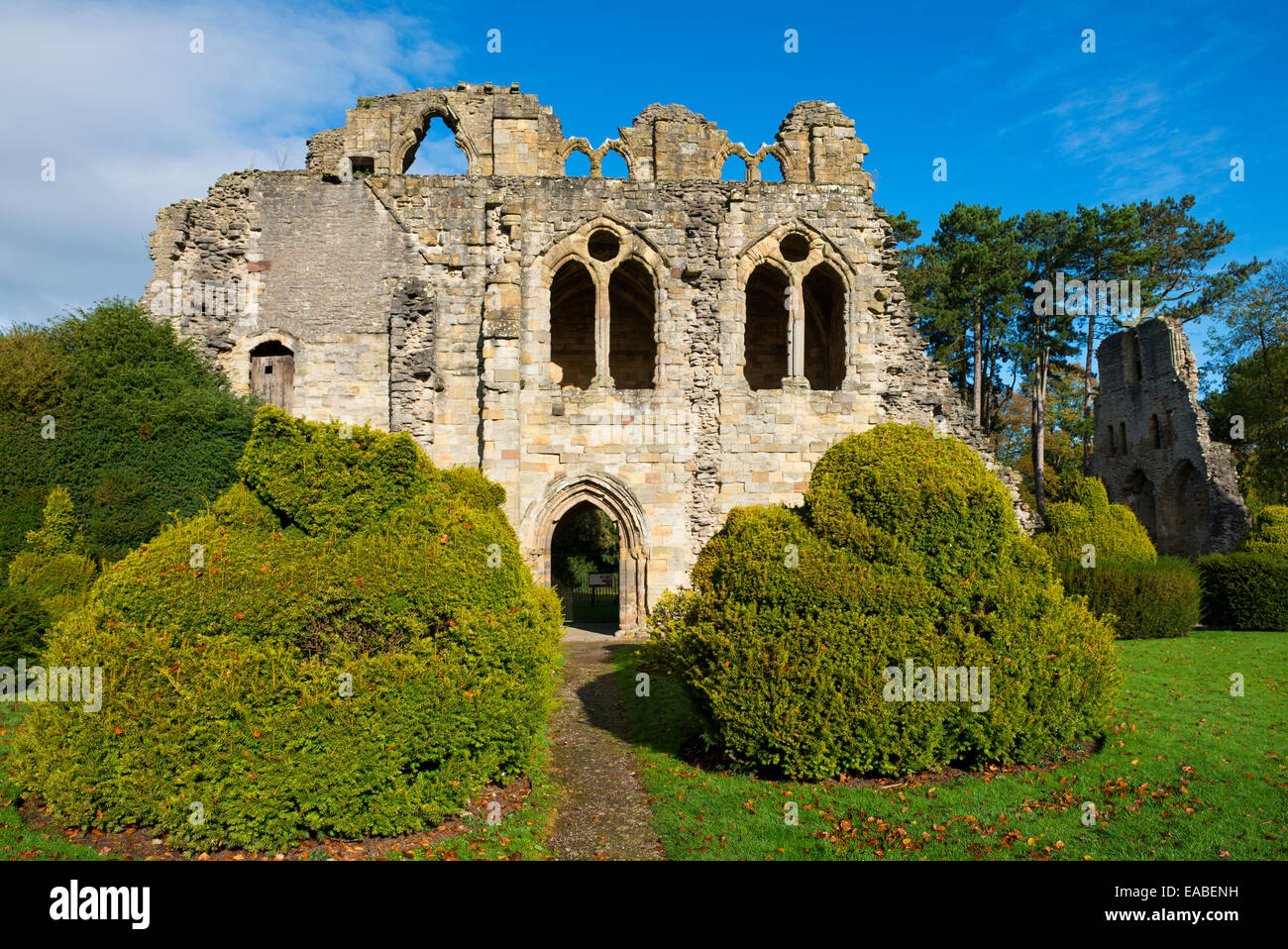The remains of Much Wenlock Priory, Shropshire, England. - Stock Image