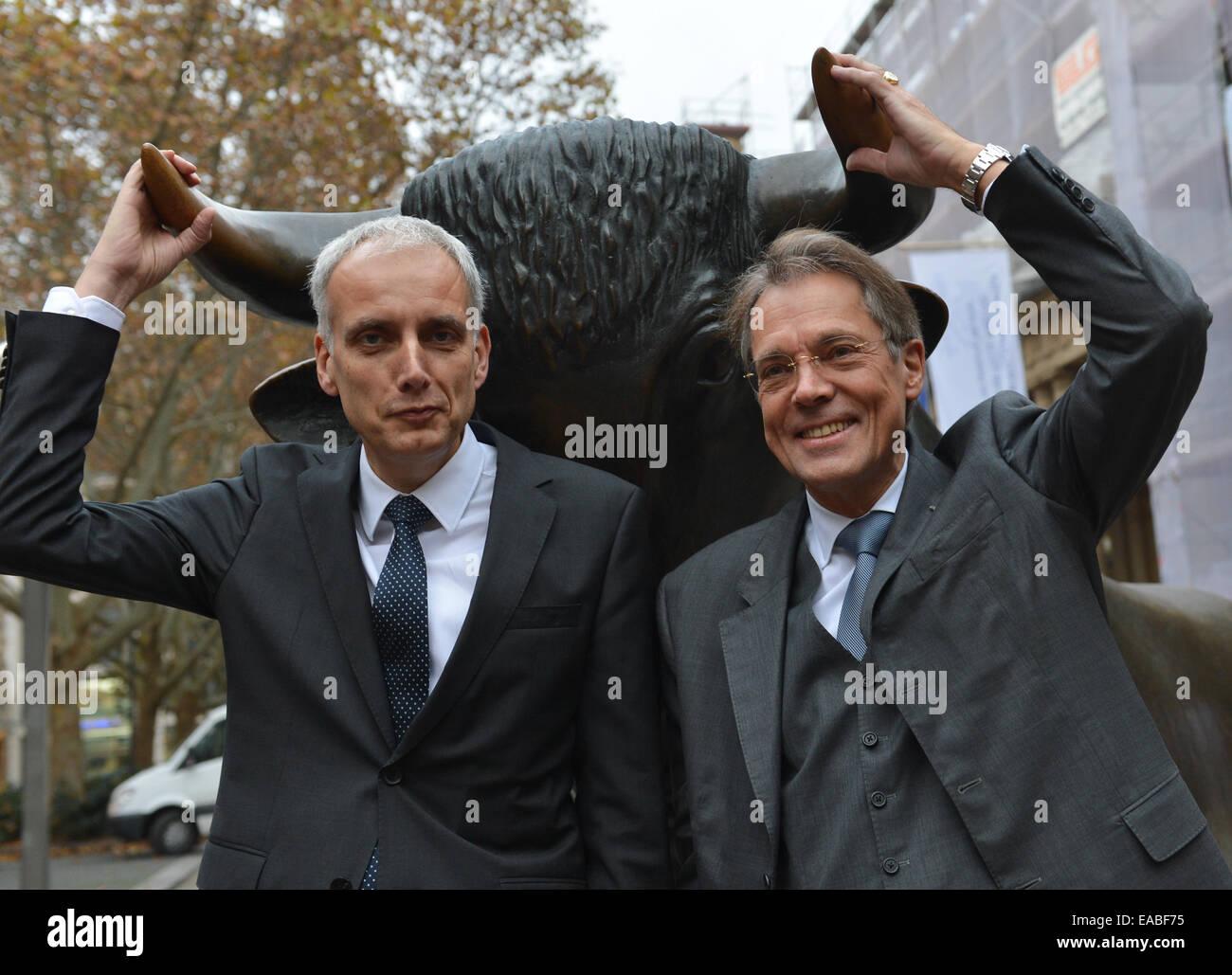Rolf Frankfurt frankfurt germany 11th nov 2014 juergen behrend r stock