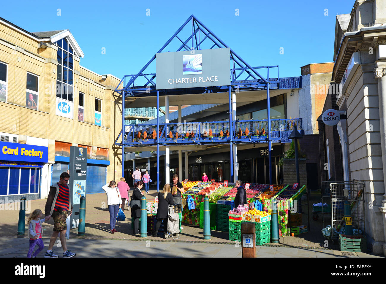 Entrance to Charter Place Shopping Centre, High Street, Watford, Hertfordshire, England, United Kingdom - Stock Image