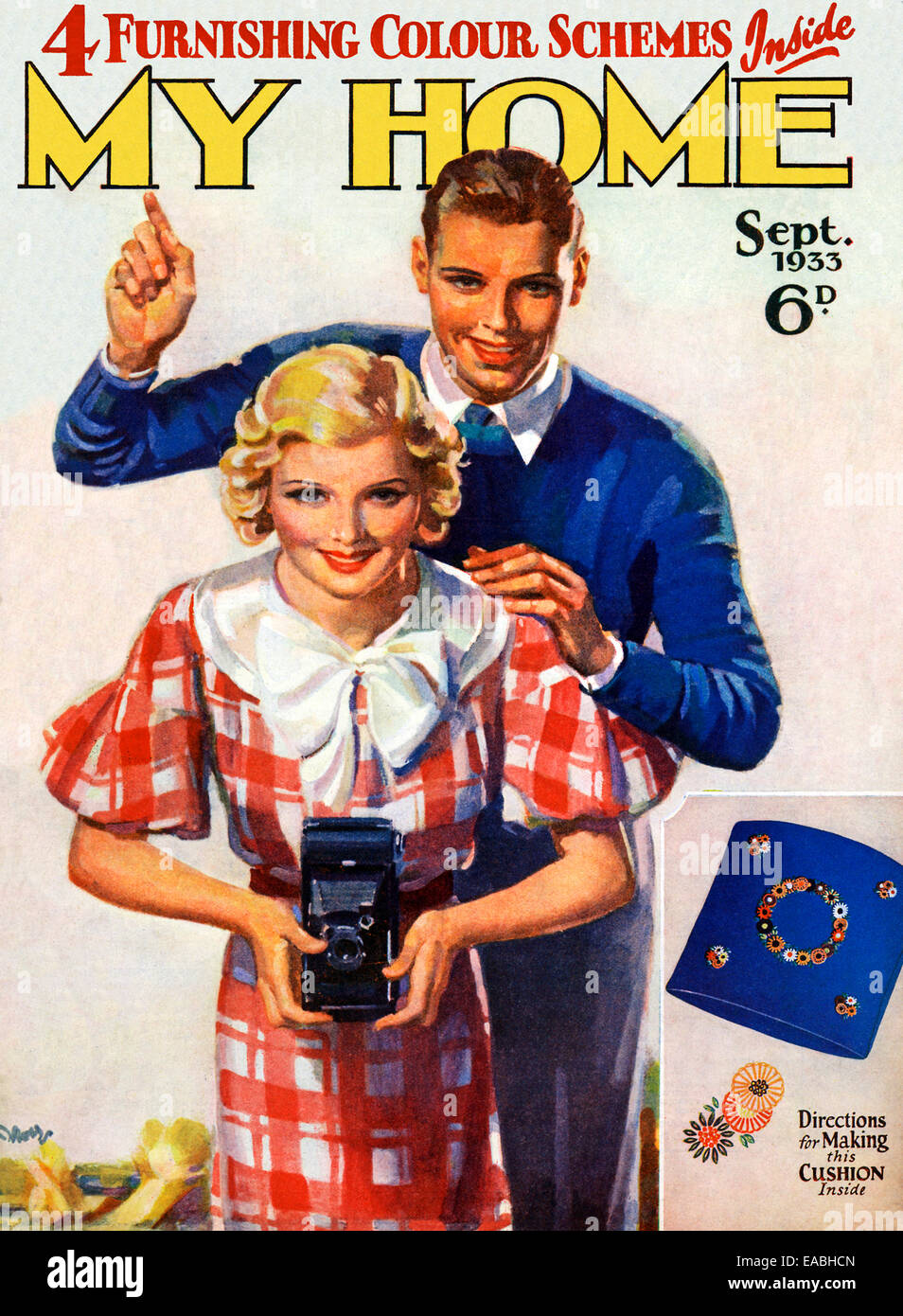 My Home, Camera, 1933 cover of the English home and lifestyle magazine for the new suburban middle class, taking - Stock Image