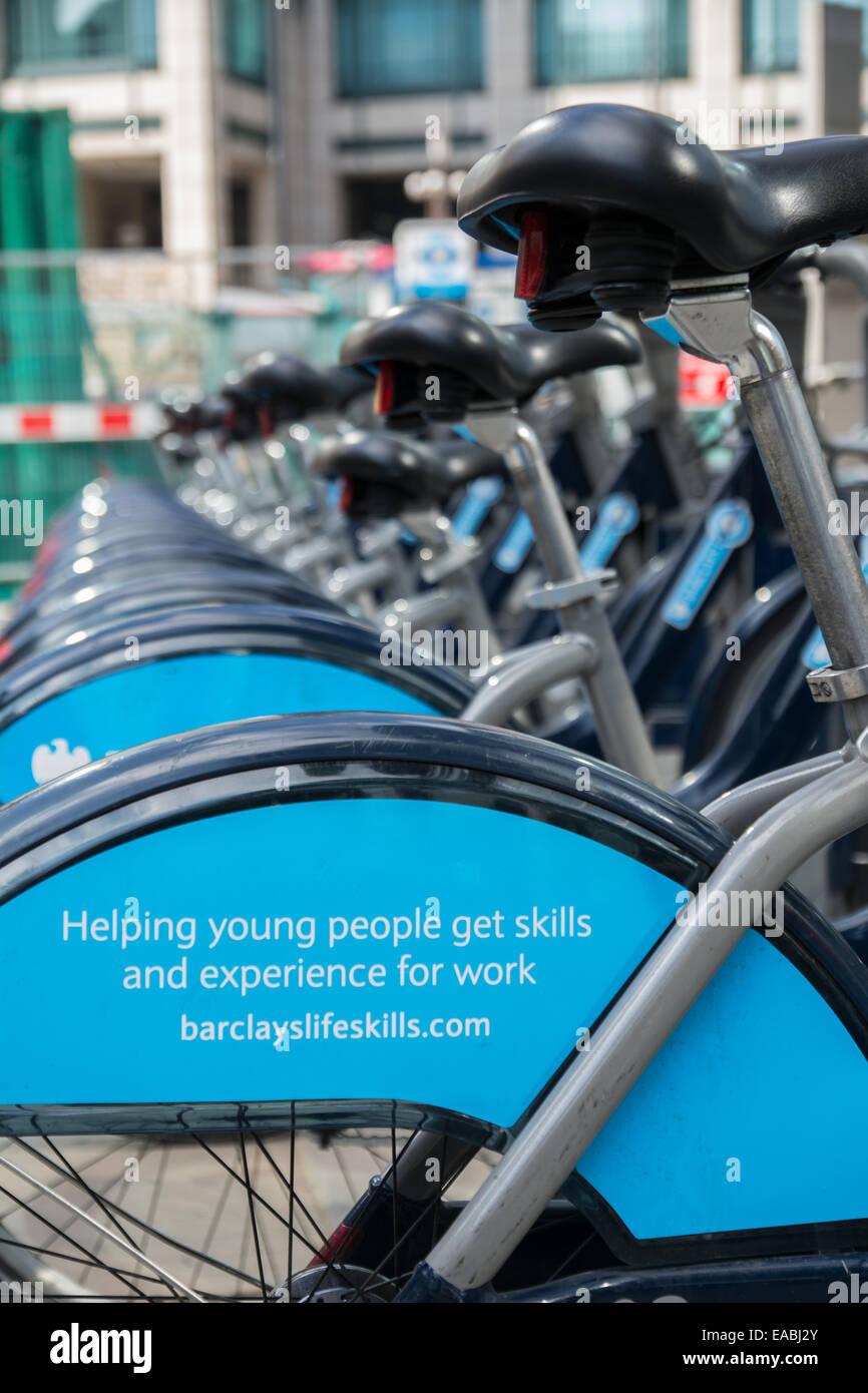 Shoreditch Station: Barclays Cycle Hire Docking Station, Shoreditch, London