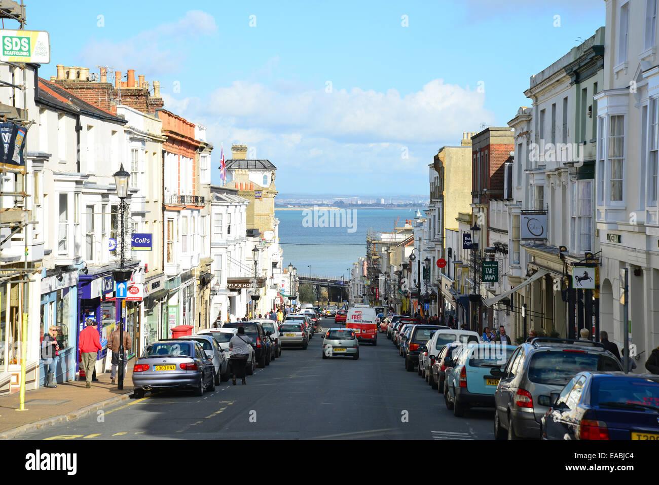 Union Street, Ryde, Isle of Wight, England, United Kingdom - Stock Image