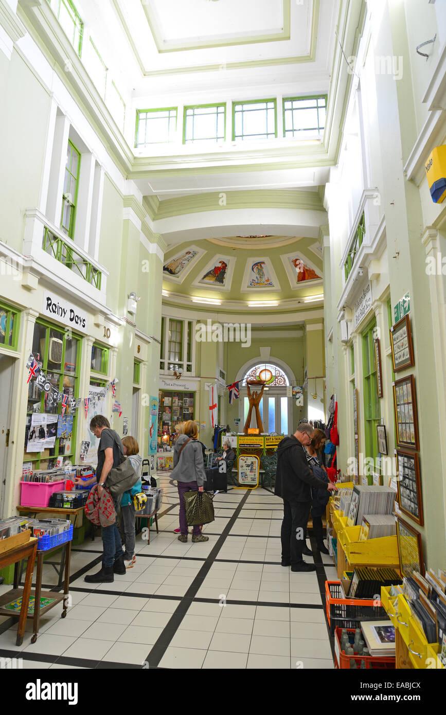 Interior of Royal Victoria Arcade, Union Street, Ryde, Isle of Wight, England, United Kingdom - Stock Image