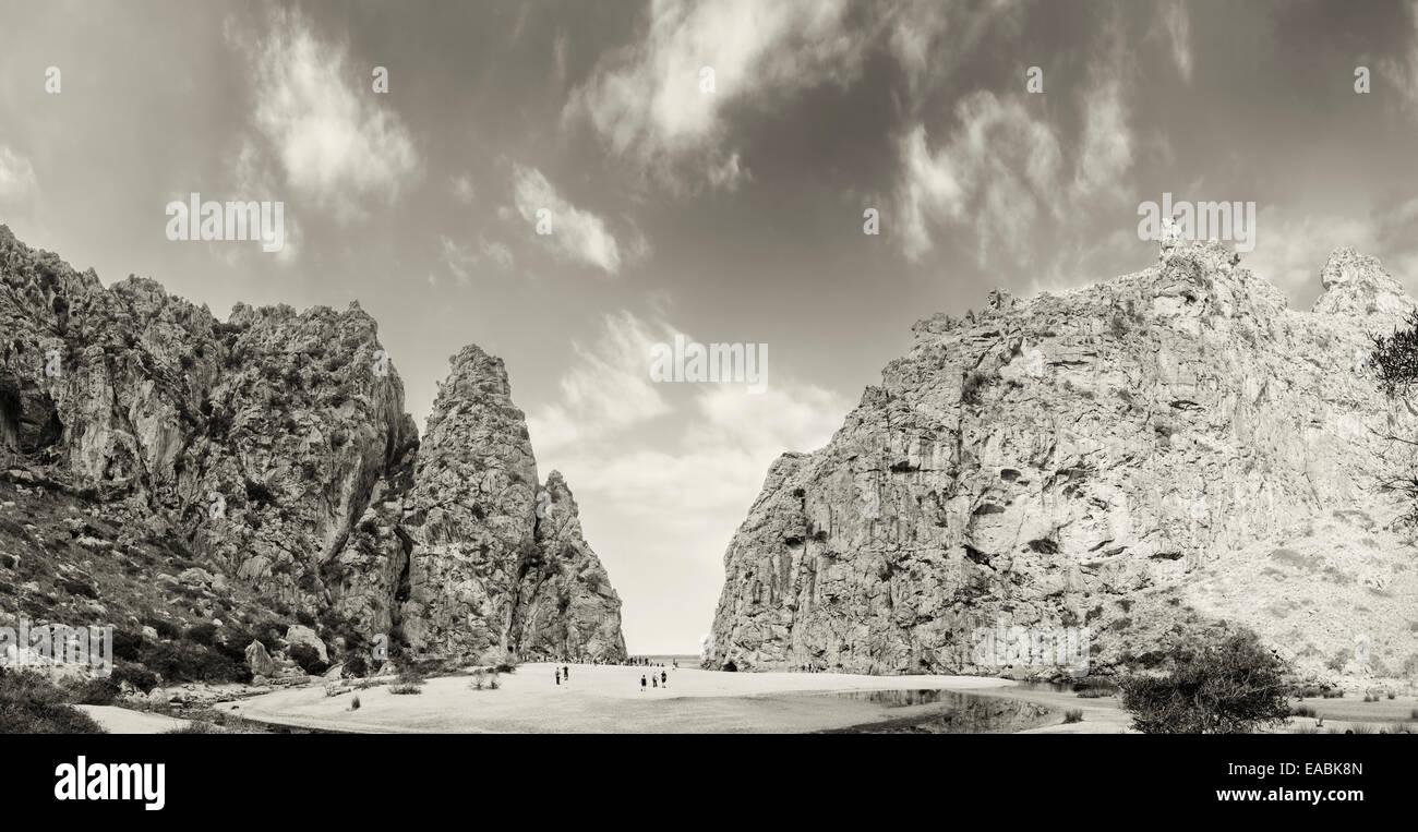 Sa Calobra beach, Torrent de Pareis, Mallorca, spain - Stock Image