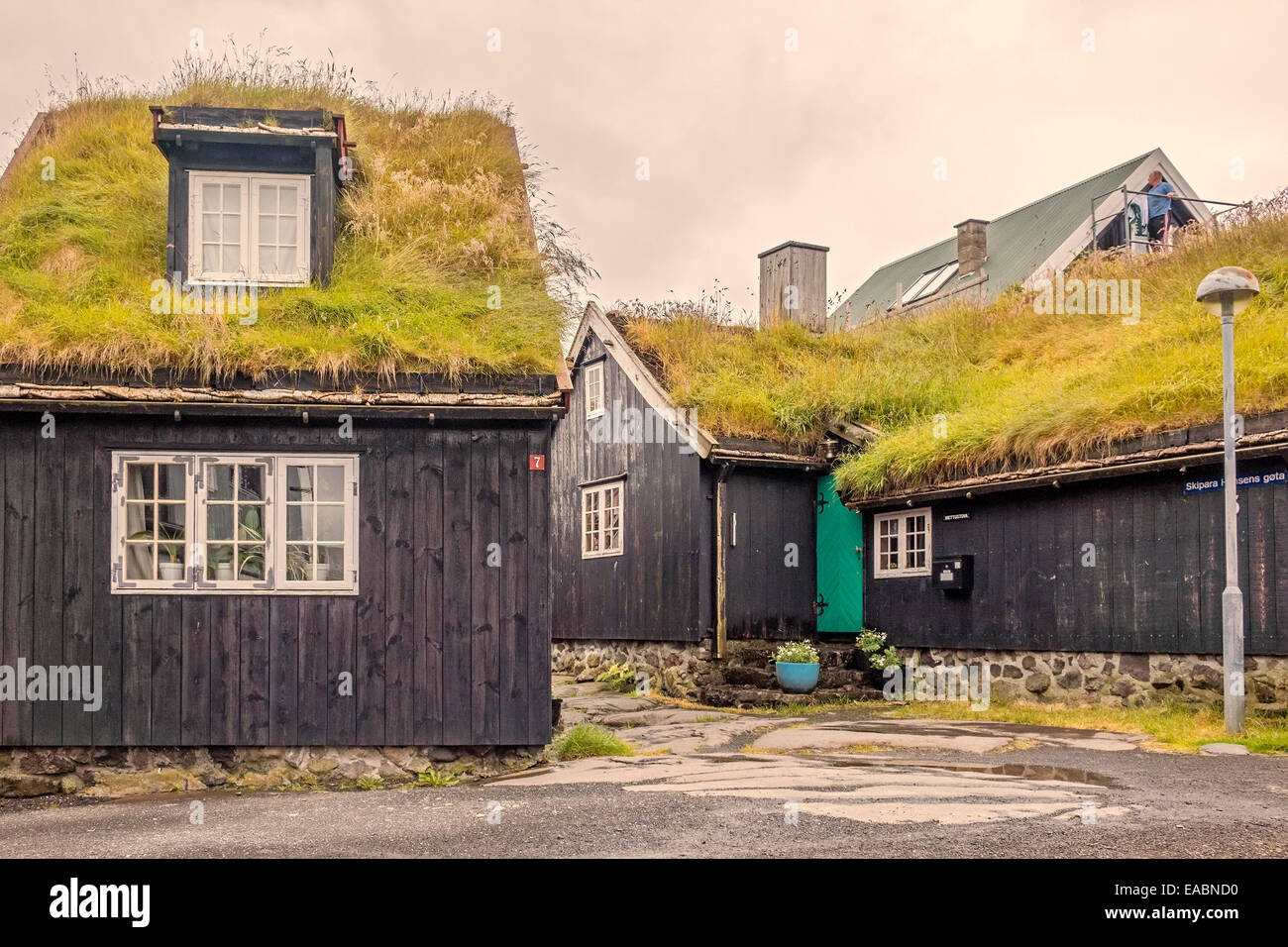 Grass Covered Homes In Faroe Islands