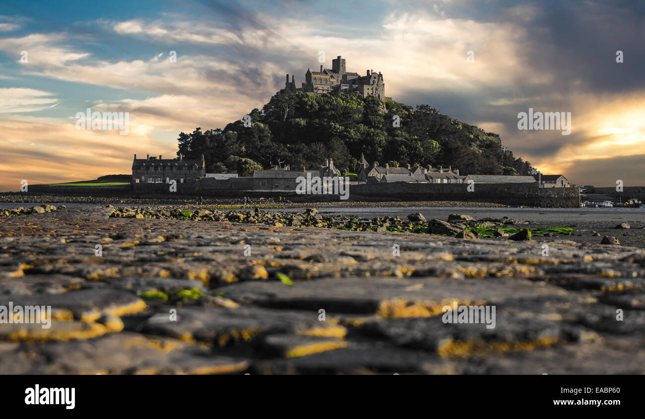 St Michaels Mount Cornwall UK - Stock Image