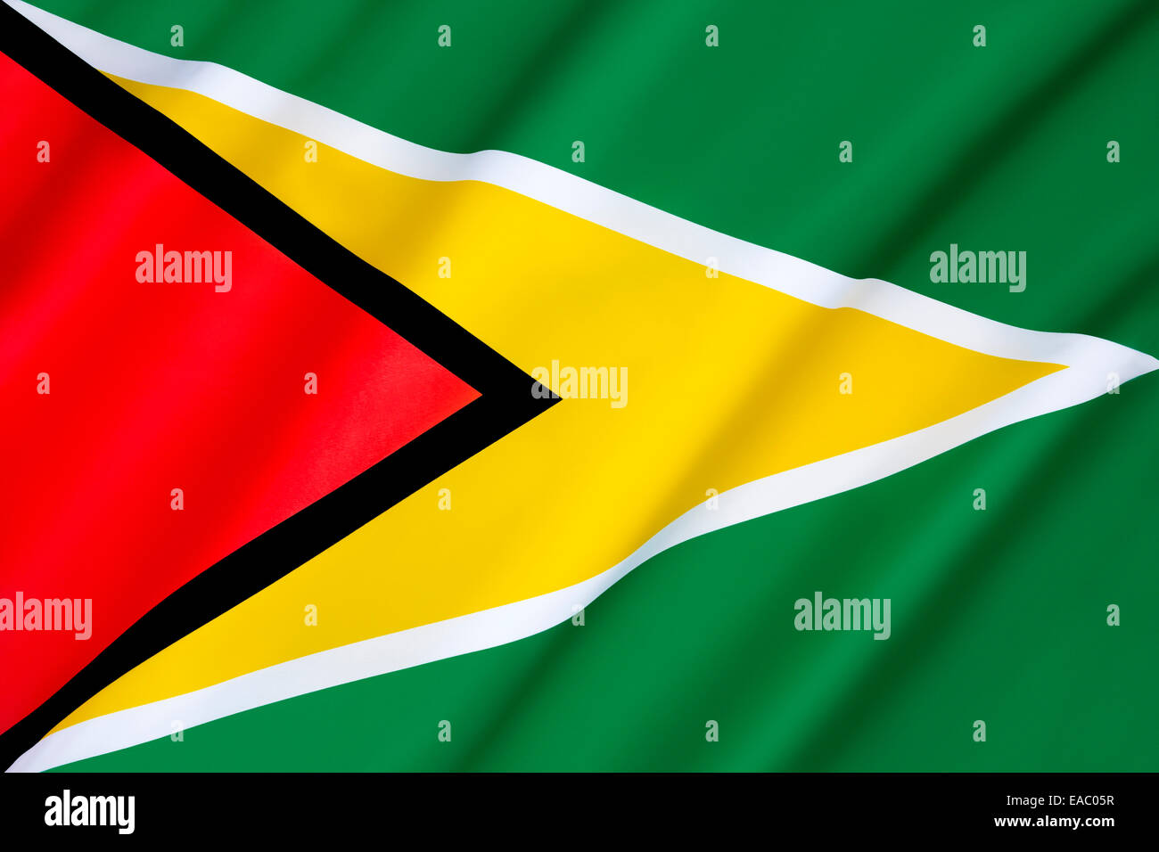 Flag of Guyana - Stock Image