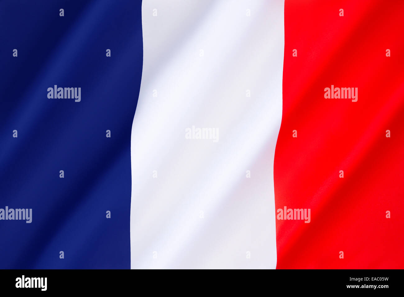 Flag of France -  It is known to English speakers as the French Tricolor. Dates to 1790. - Stock Image
