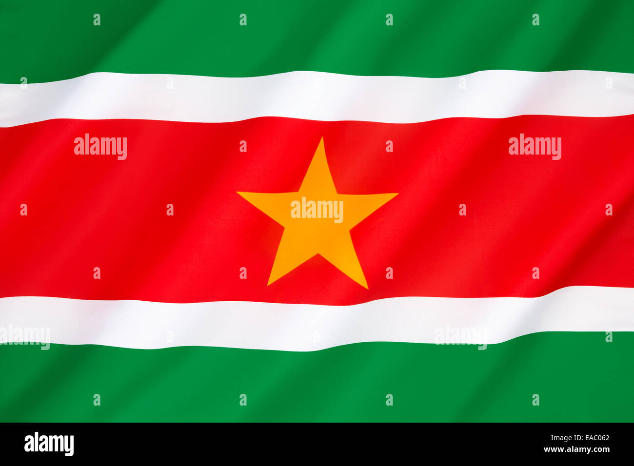 Flag of Suriname - Stock Image