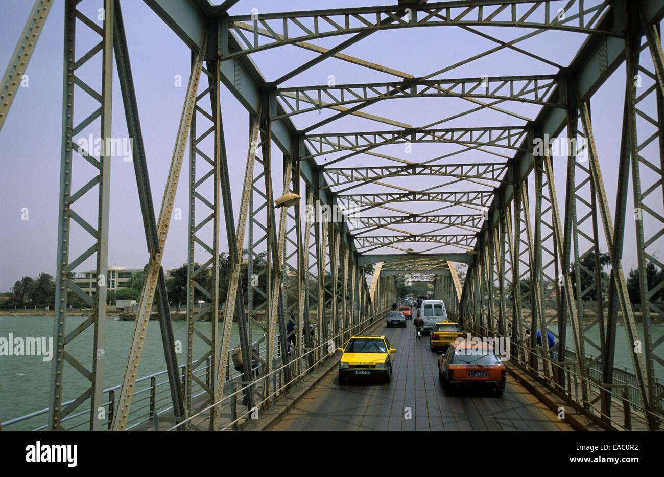 Bridge Faidherbe, Saint Louis, Senegal, Africa - Stock Image