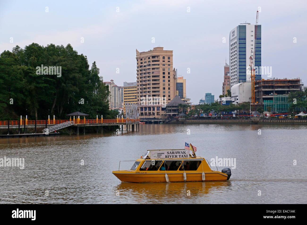 Sarawak River Taxi, Kuching, Malaysia - Stock Image