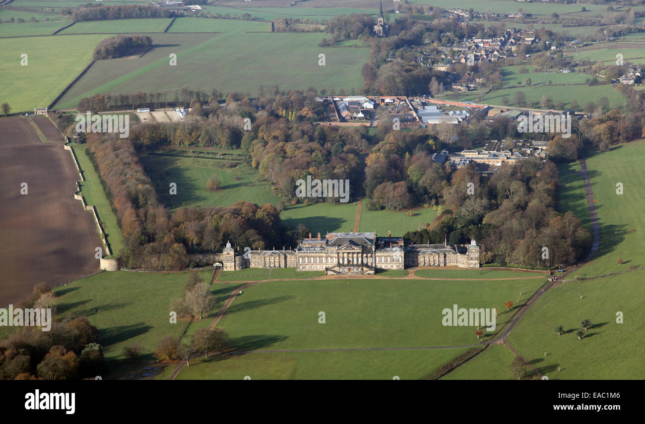 aerial view of Wentworth Woodhouse country house near Rotherham, South Yorkshire, UK Stock Photo