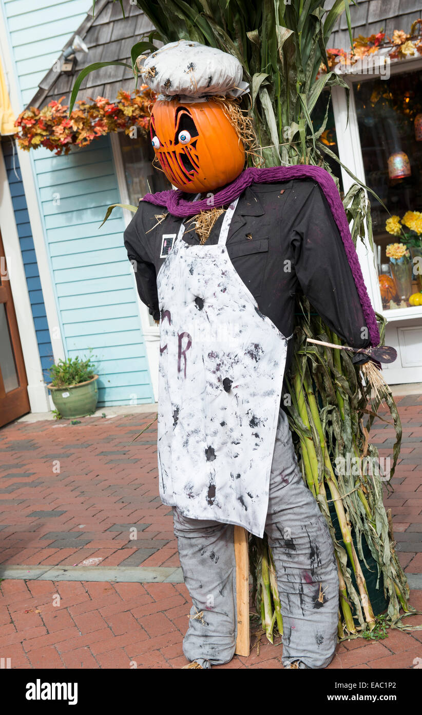 Cape May Halloween.A Halloween Display Outside A Shop In Cape May New Jersey