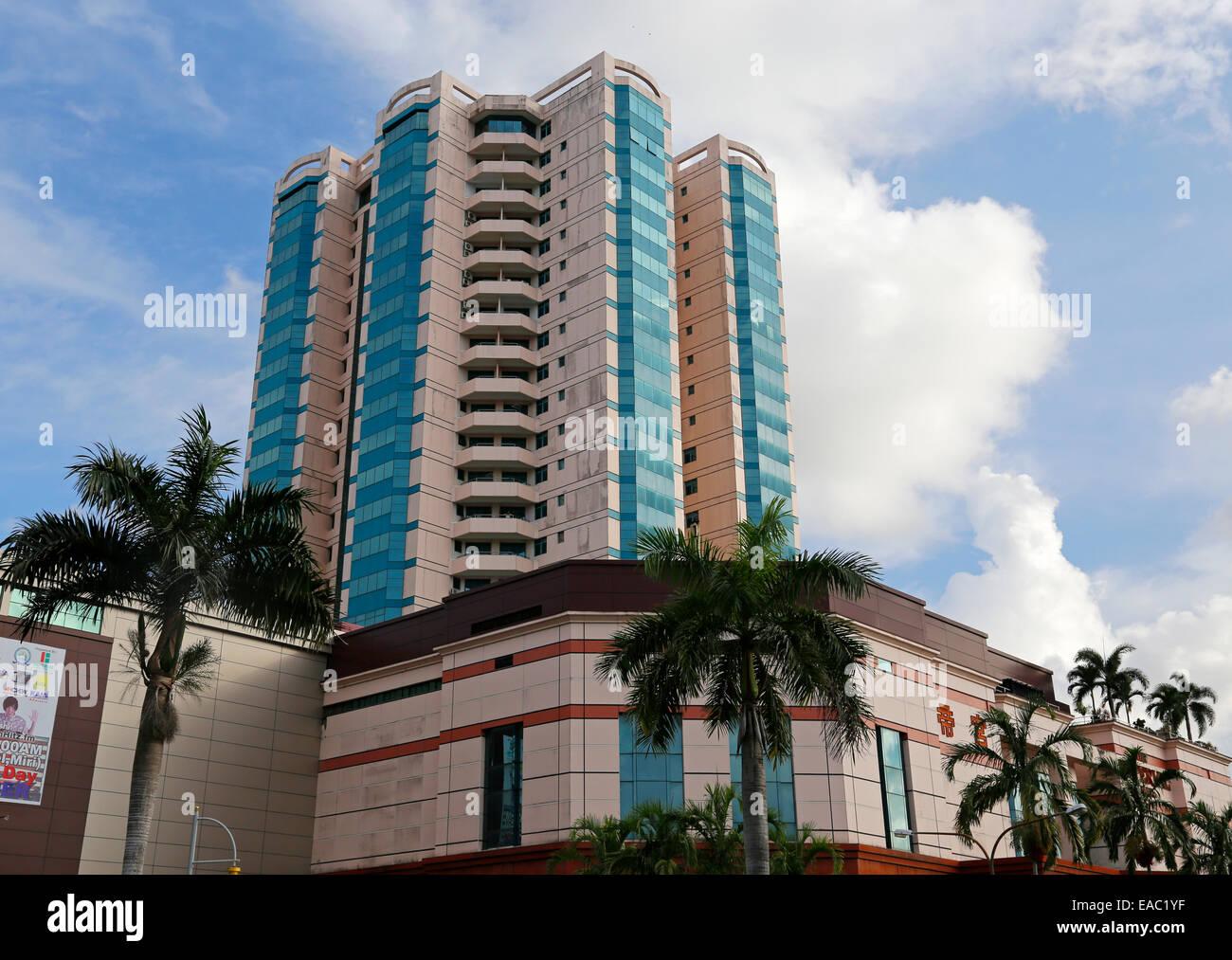 Imperial Palace Hotel and Shopping Mall, Miri, Sarawak, Malaysia - Stock Image
