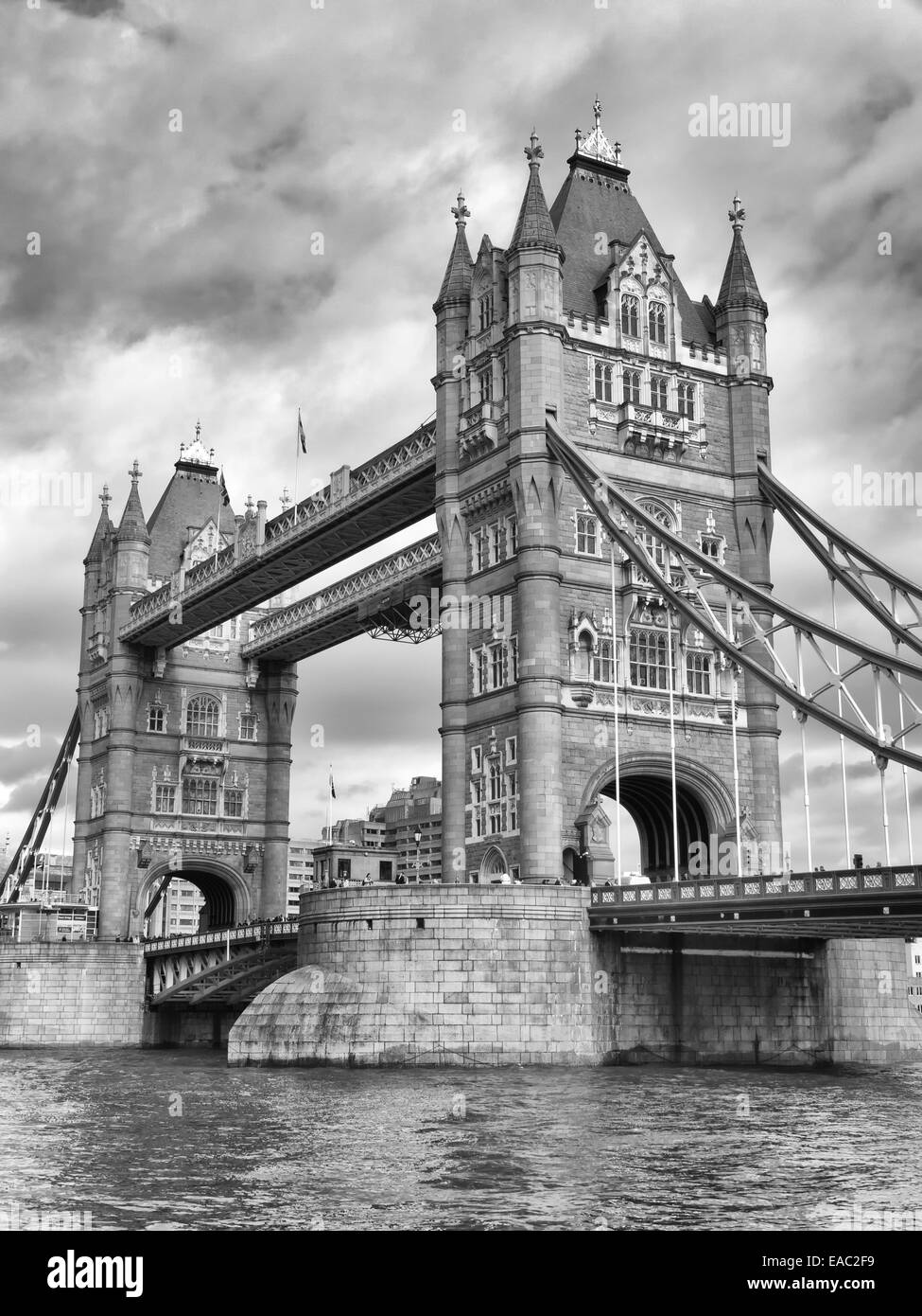 Tower Bridge in the city of London - Stock Image