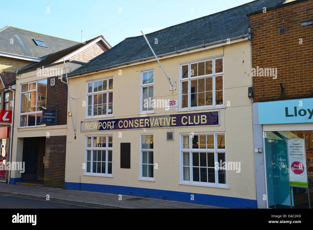 Newport Conservative Club, Pyle Street, Newport, Isle of Wight, England, United Kingdom - Stock Image