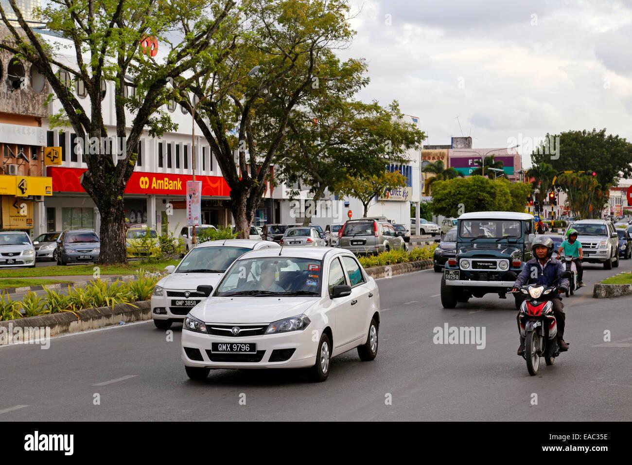 Jalan Permaisuri, Miri, Sarawak, Malaysia - Stock Image