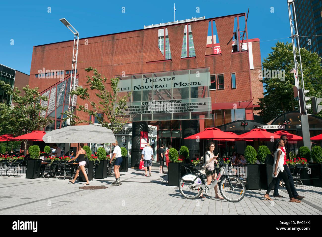 Théâtre du Nouveau Monde, Montreal, province of Quebec, Canada. - Stock Image