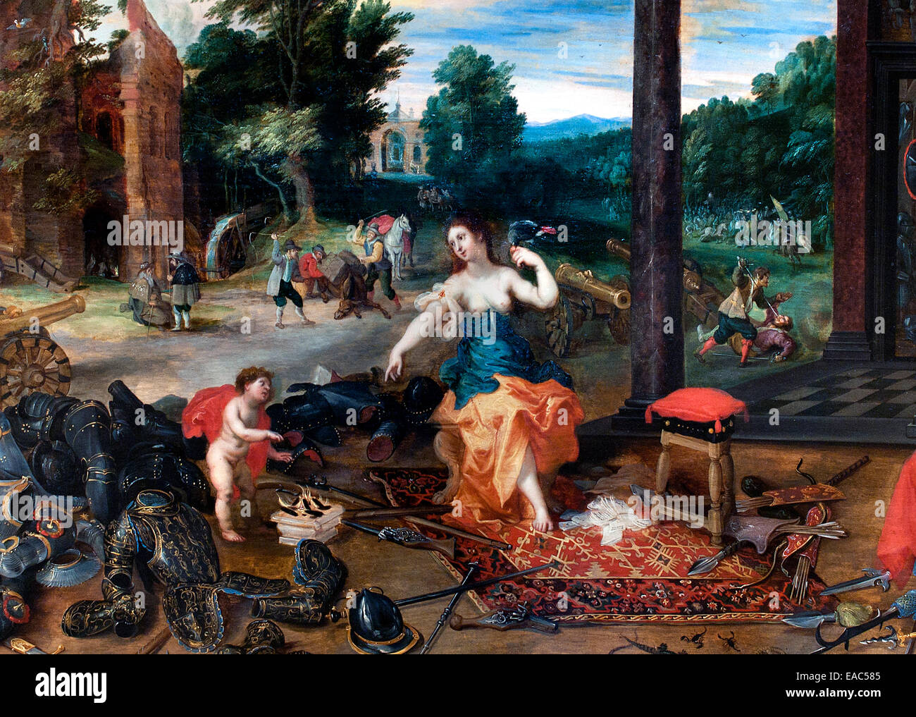 Allegory of Touch by Jan Bruegel the Younger 1601-1678 and Hendrick van Balen (1575-1532 - Stock Image
