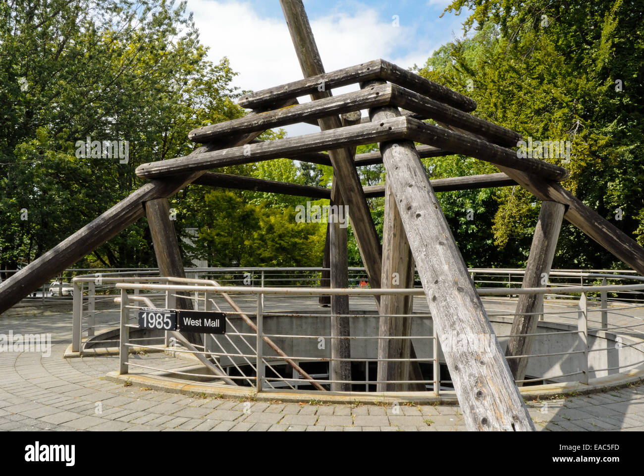 Entrance to First Nations Longhouse at University of British Columbia - Stock Image