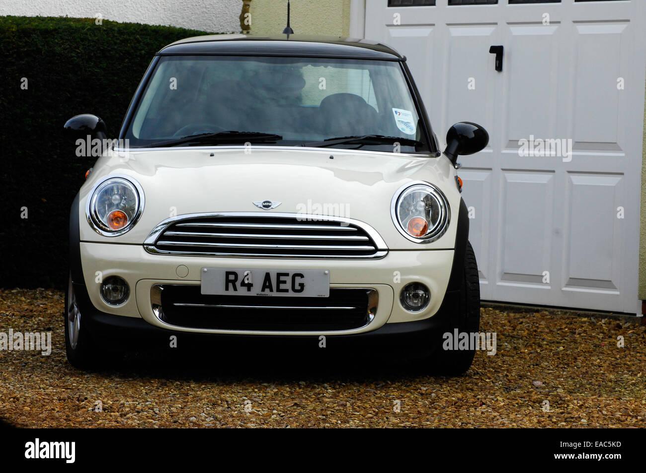 White Mini motor car - Stock Image