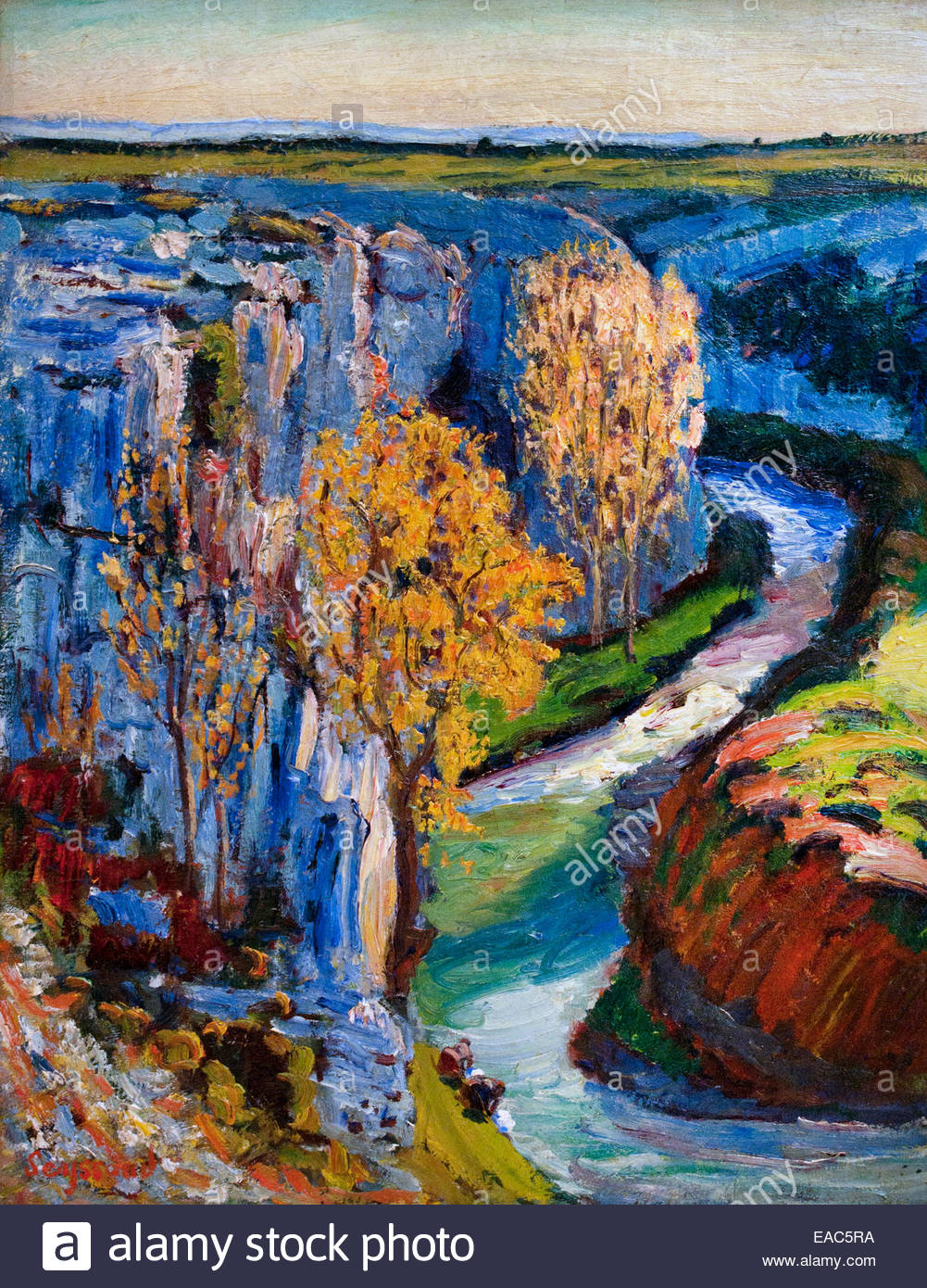 Fall River (Touloubre) by René SEYSSAUD 1867-1952 France French Stock Photo