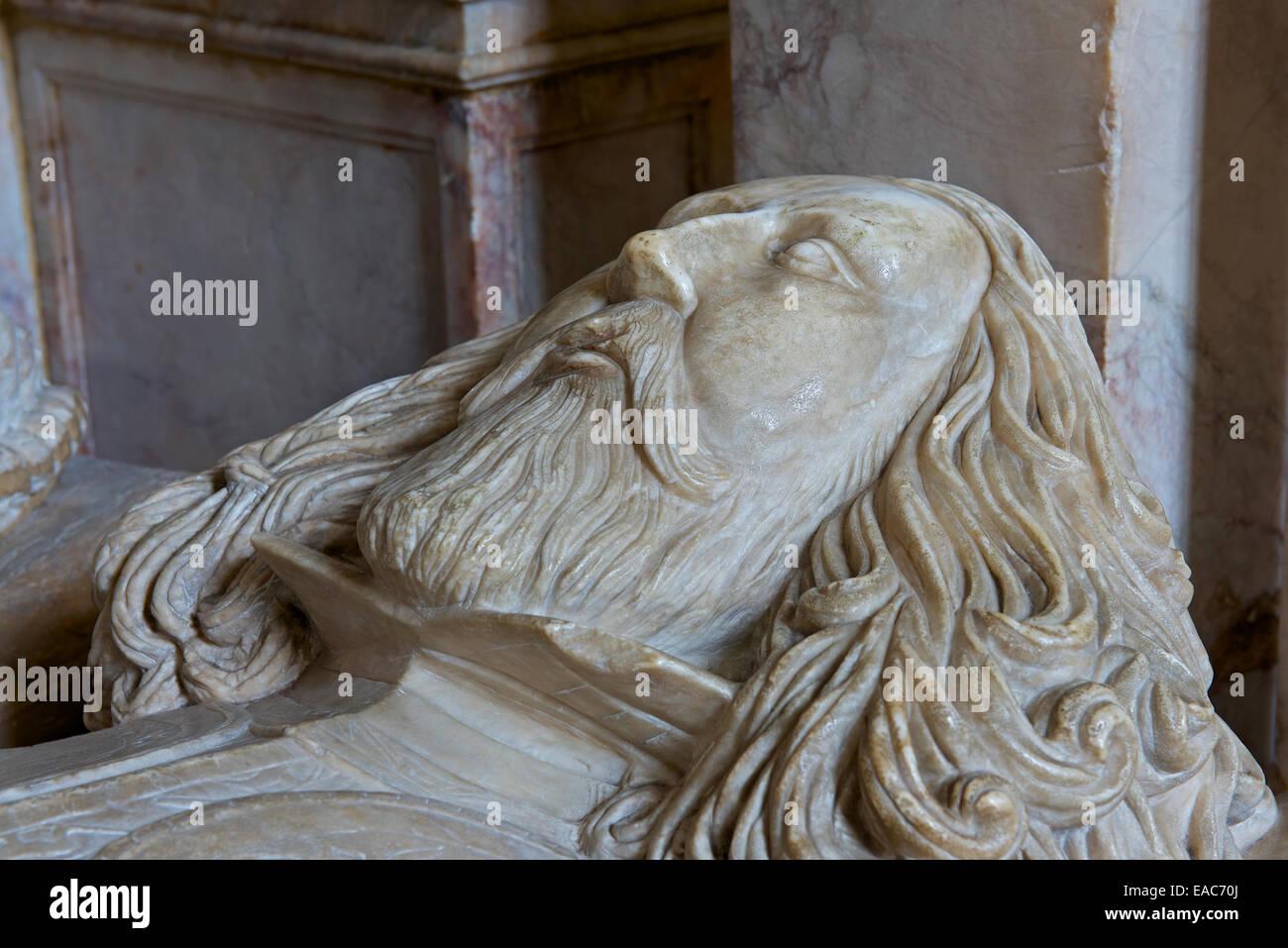 Effigy of Sir Thomas Smith, St Mary's Church, Nantwich, Cheshire, England UK - Stock Image
