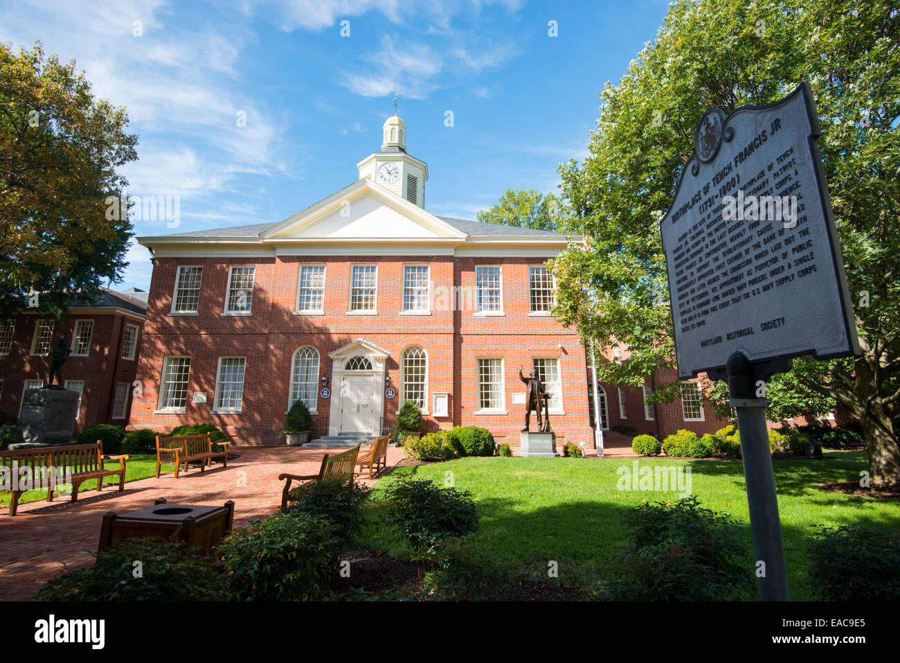 The Talbot County Courthouse in Easton, Maryland USA Stock Photo