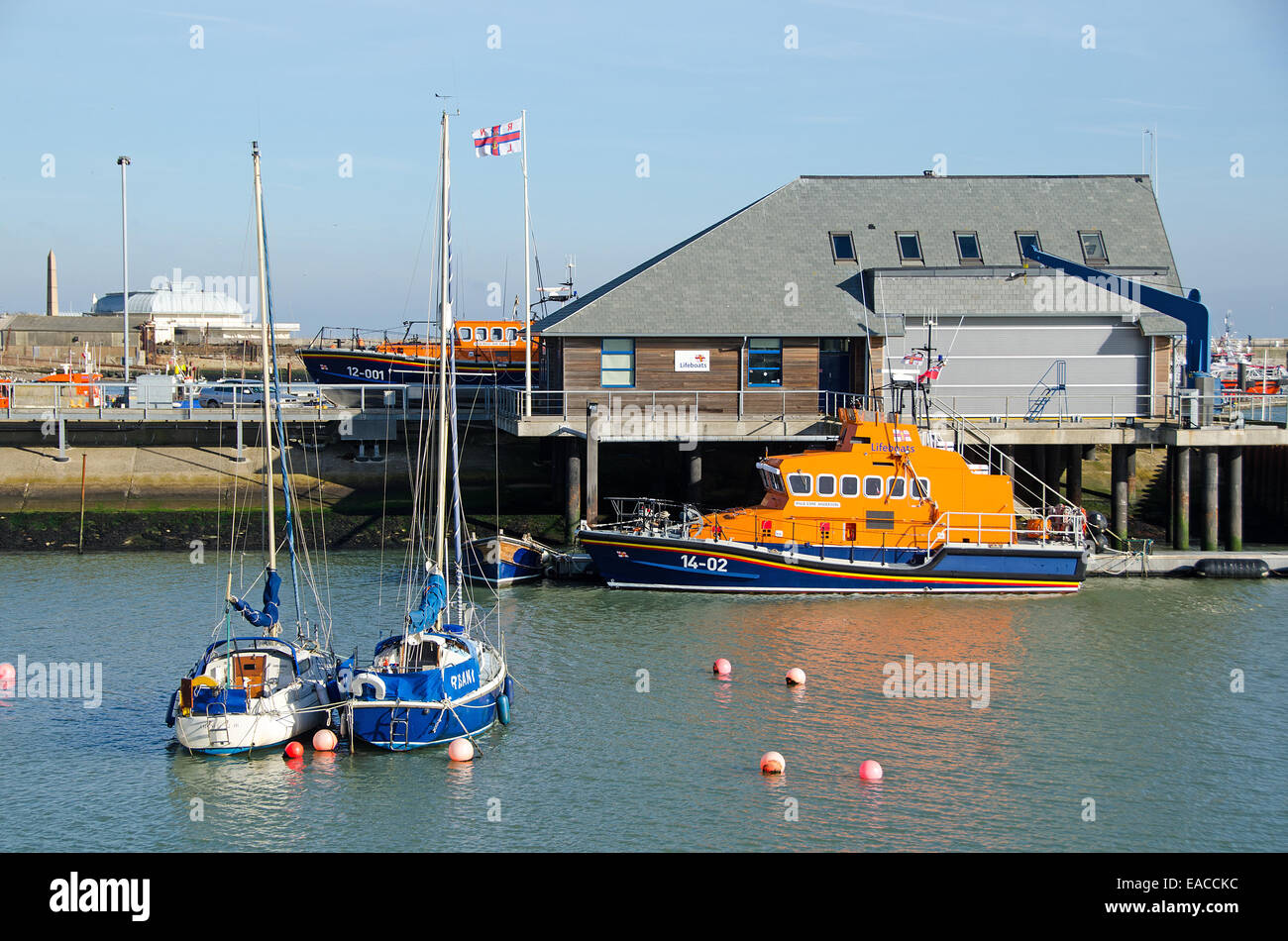 The Ramsgate Lifeboat, Esme Anderson at dock in Ramsgate harbour. - Stock Image