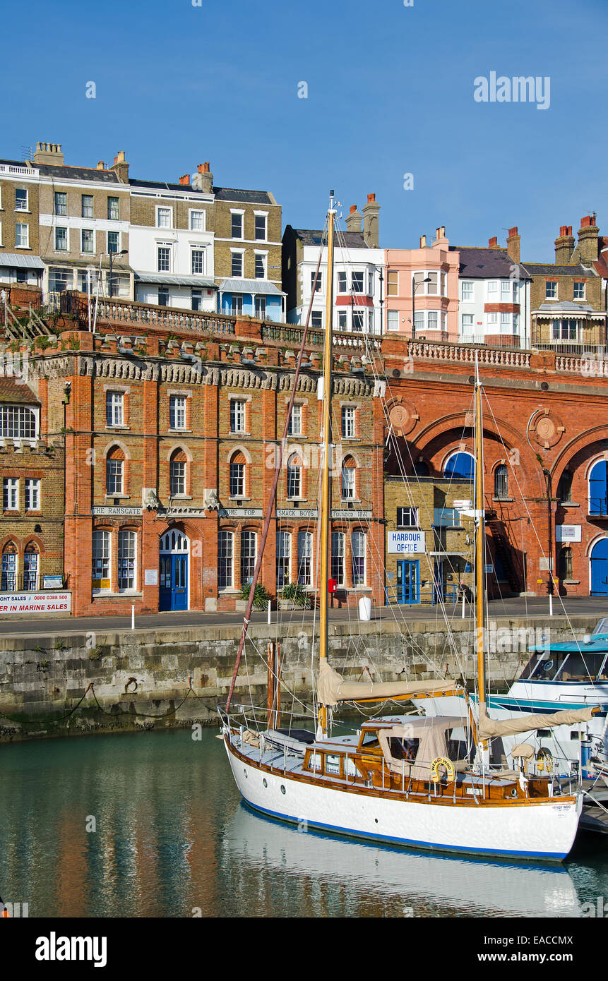 The Ramsgate Home for Smack Boys in the Royal Harbour at Ramsgate, Kent, UK.  This was home to apprentice  boys - Stock Image