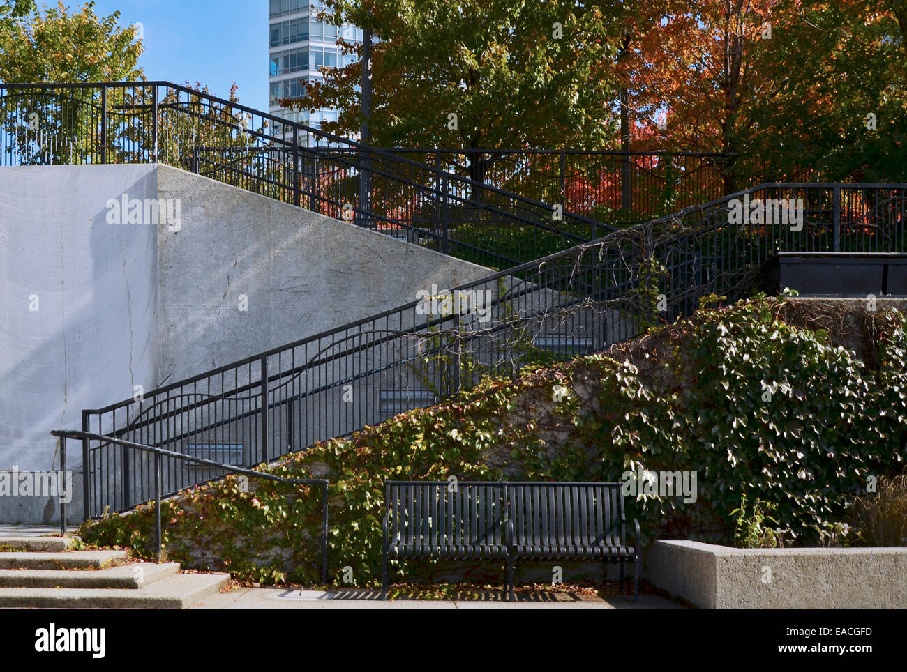 Stairs in Ward, A. Montgomery Park, Chicago - Stock Image