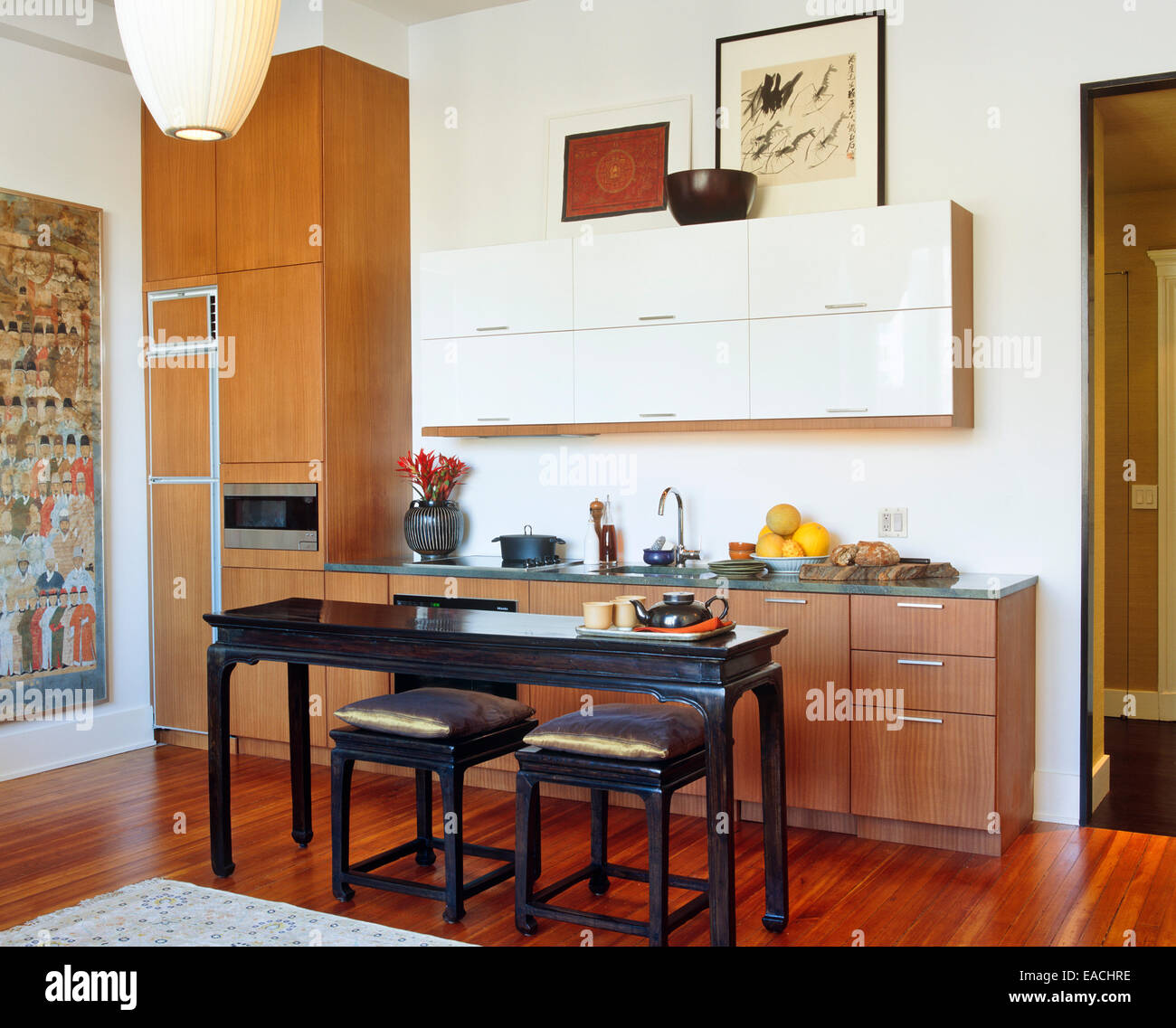 styled urban kitchen - Stock Image